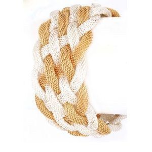 Gold Mesh Braided Magnetic Clasp Bracelet
